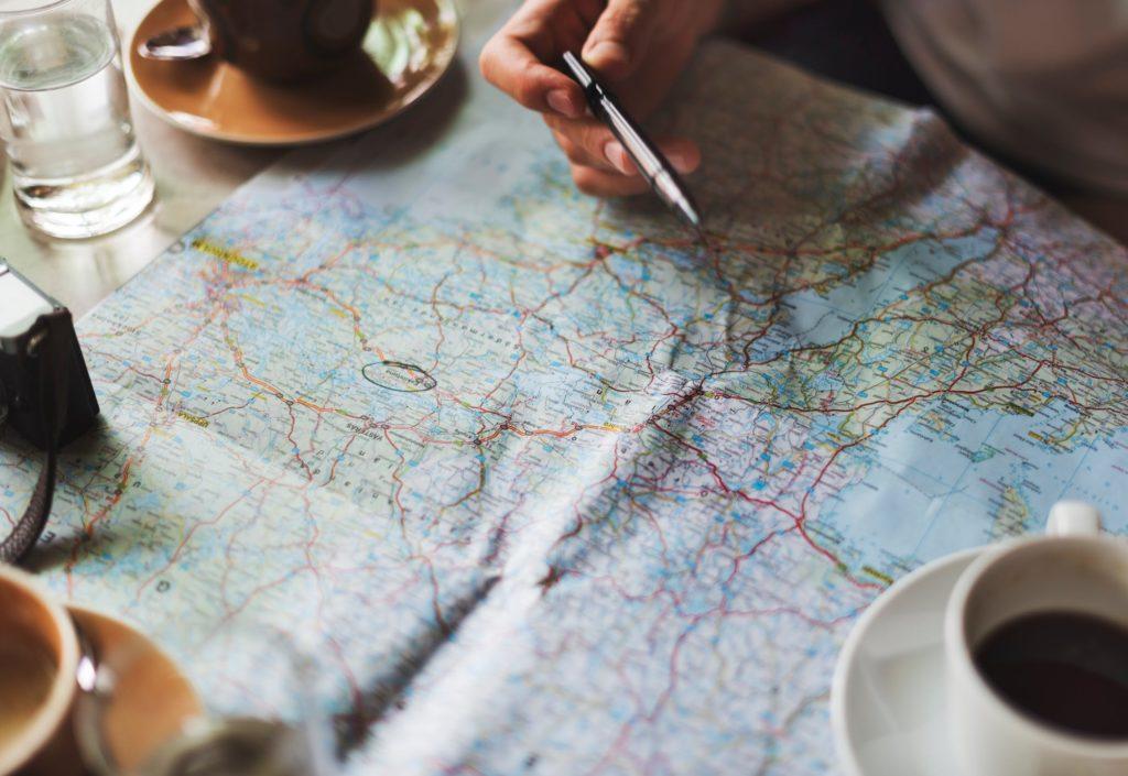 carte destination information voyage