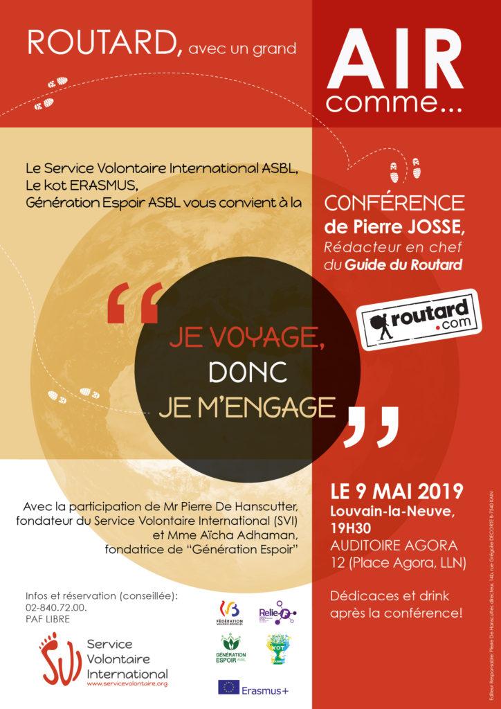 conférence Pierre Josse à Louvain La Neuve