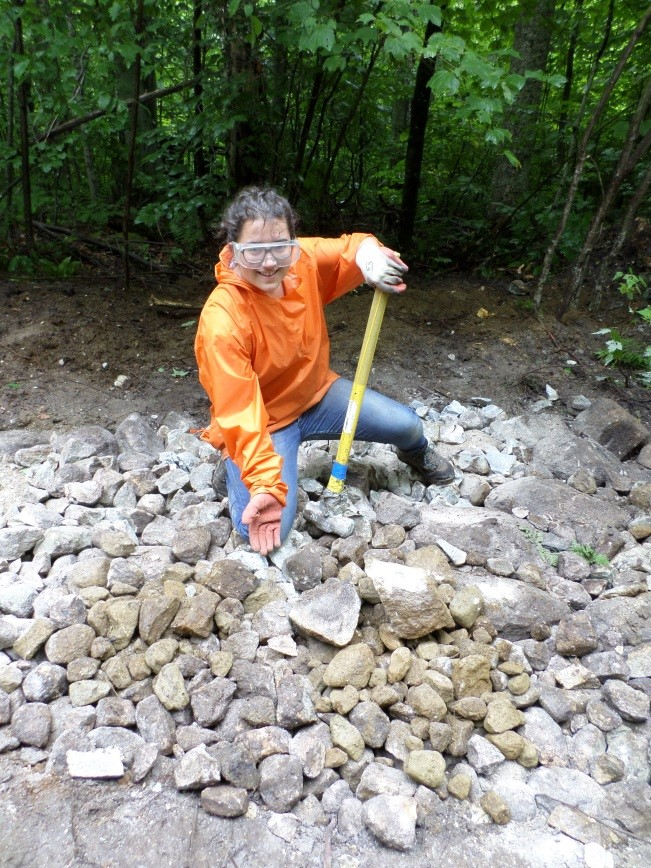 volunteer project: Bicycle Trail Building photo 1
